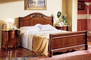 Althea letto legno, Letto sontuosamente decorato, per Villa