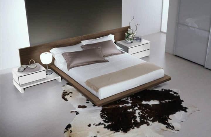 Arredamento per camere da letto, letto moderno con ampia testiera  IDFdesign