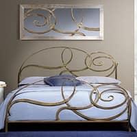 Capriccio, Letto in ferro battuto, disegno a spirale ellittica