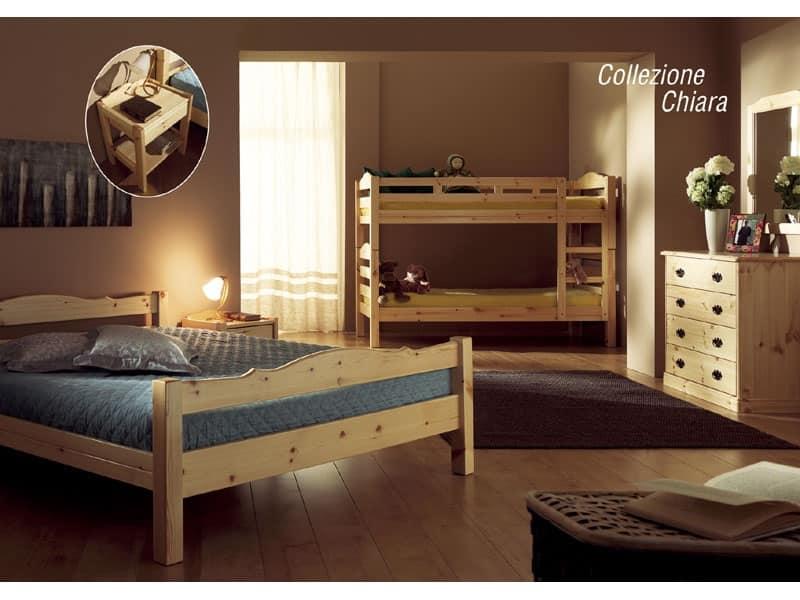 Letto in legno per baite e hotel in stile rustico  IDFdesign