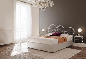 Gerico, Letto in metallo, per camere da letto in stile classico
