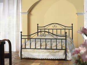 Giulia 120, Letto classico in ferro, per Camera da letto tradizionale