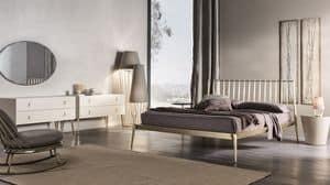 Urbino letto, Letto in metallo conificato, montaggio con viti