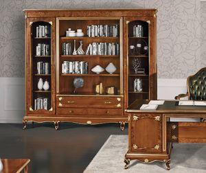 Art. 3000, Libreria con decori in radica