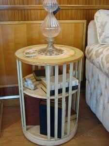 Art. 664, Libreria girevole in legno, ridotte dimensioni, per casa
