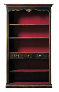 Grazia FA.0096, Libreria provenzale a tre ripiani e tre cassetti