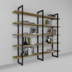 Alice, Libreria sospesa a muro, in ferro e legno