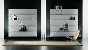 ALL comp.02, Composizione di mensole per la casa moderna, in alluminio