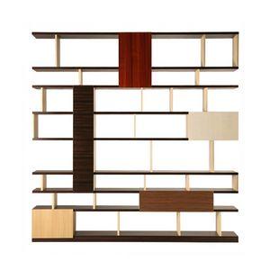 Babilonia 6292, Libreria in legno con un mix di essenze