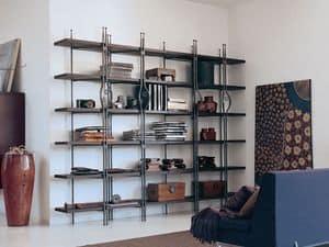 Be Bop, Libreria in legno e metallo, per ambienti residenziali moderni