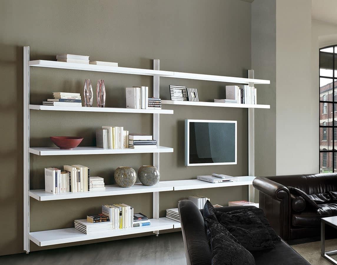 Libreria Bifacciale A Soffitto arredo librerie | idfdesign