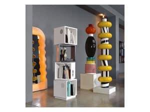 Bollicine Totem, Libreria in legno, forma originale