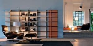 Citylife 23, Libreria componibile, adatta per ambienti moderni