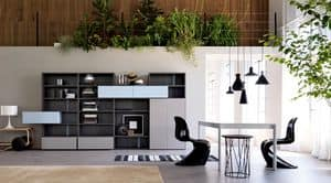 Citylife 36, Libreria moderna, con ribalte, per ambienti residenziali