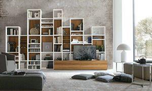 Comp. A086, Libreria dal design geometrico