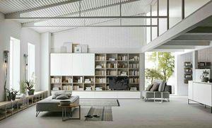 Comp. A115, Libreria modulare dal design moderno