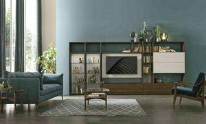Comp. A117, Libreria con porta tv girevole