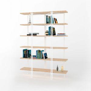 Dalton, Libreria modulare con struttura in ferro