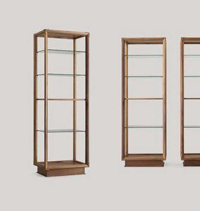 Didier libreria colonna, Libreria bifacciale con piani in vetro