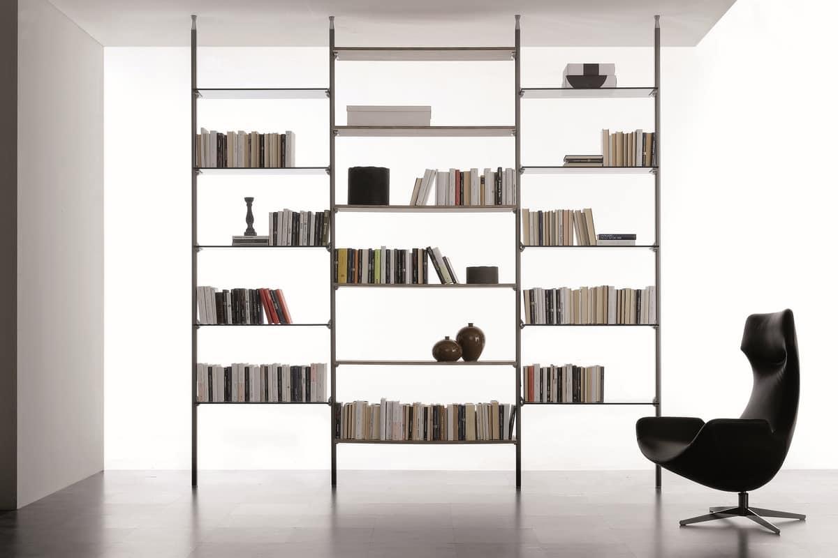 Libreria Bifacciale A Soffitto libreria modulare a parete o bifacciale | idfdesign
