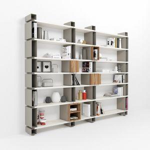 Modulo, Libreria modulare a parete