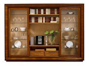 Topkapi CH.0062, Libreria con 2 porte scorrevoli in vetro