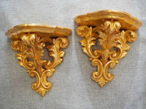 MENSOLA Art. AC 0036, Mensolina in legno di tiglio intagliato a mano