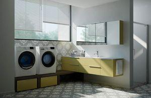 Spazio Time comp.07, Mobili angolari per lavanderia, modulari