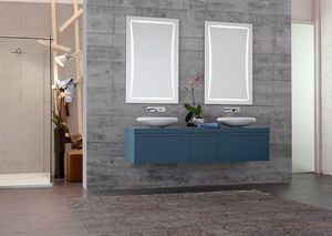 Byte 2.0 comp.10, Mobile bagno con doppio lavabo e doppia specchiera