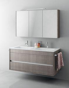 Duetto comp.14, Mobile bagno monoblocco con doppio lavabo