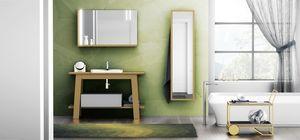 Bath Table 05, Mobile bagno, con specchiera con mensola