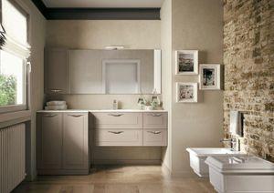 Dressy comp.08, Mobile bagno con design al confine tra tradizione e contemporaneo