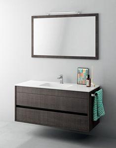 Duetto comp.12, Mobile bagno piccole dimensioni, con specchiera