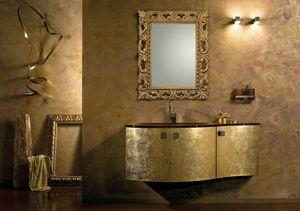 Glamour Oro AM37, Mobile da bagno finitura oro