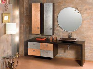 Glamour Rame AM58, Mobile da bagno con finitura pregiata