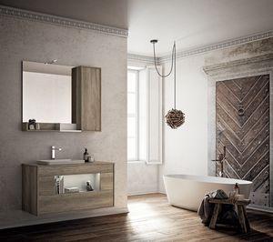 Lume comp.05, Mobile bagno con lavabo e specchiera