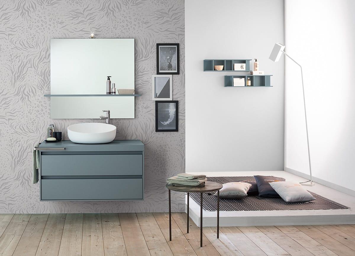 Lavello Bagno Da Appoggio mobile bagno con lavabo da appoggio | idfdesign