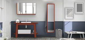 Bath Table 08, Arredo bagno rosso corallo