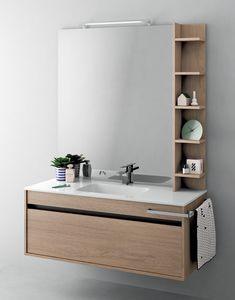 Duetto comp.11, Mobile salvaspazio per bagno con luce integrata