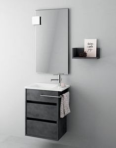 Duetto comp.15, Mobile da bagno salvaspazio, stile moderno