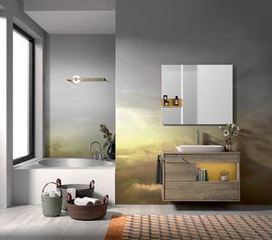 Lume comp.10, Composizione per bagno con lavabo e vasca
