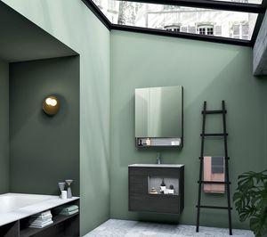 Lume comp.12, Mobile da bagno in legno in stile moderno