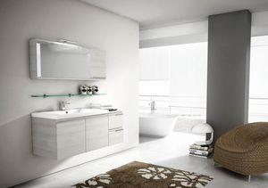 Mistral comp.08, Mobile da bagno con specchio con apertura basculante