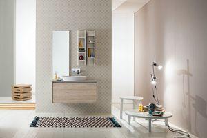 Summit 2.0 comp.02, Composizione da bagno con mobili a muro