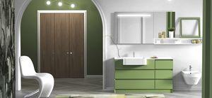 Torana TR 020, Mobile da bagno verde, con cassetti
