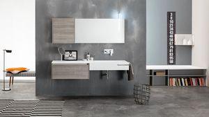Kami comp.16, Composizione da bagno modulare, stile moderno