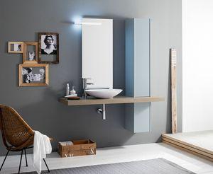 Kami comp.19, Set bagno con colonna e lavabo da appoggio