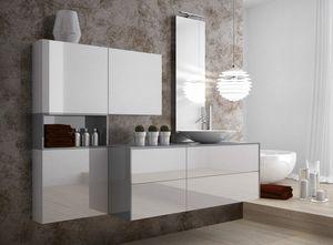 Torana TR 025, Mobili contenitori per bagno, con lavabo