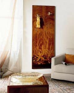 A416 appendiabiti, Appendiabiti classico di lusso, in legno, da parete