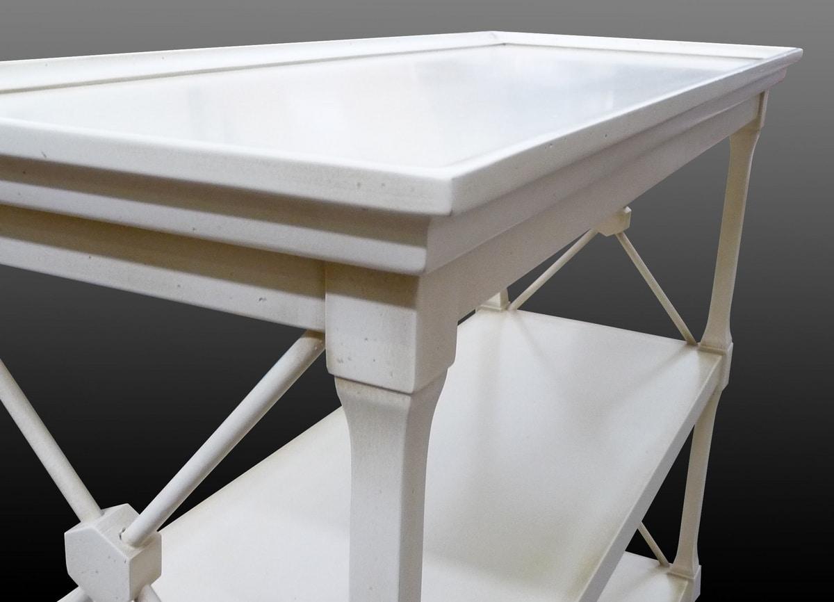 Veronica FA.0091, Mobiletto con tre ripiani, in stile classico di lusso
